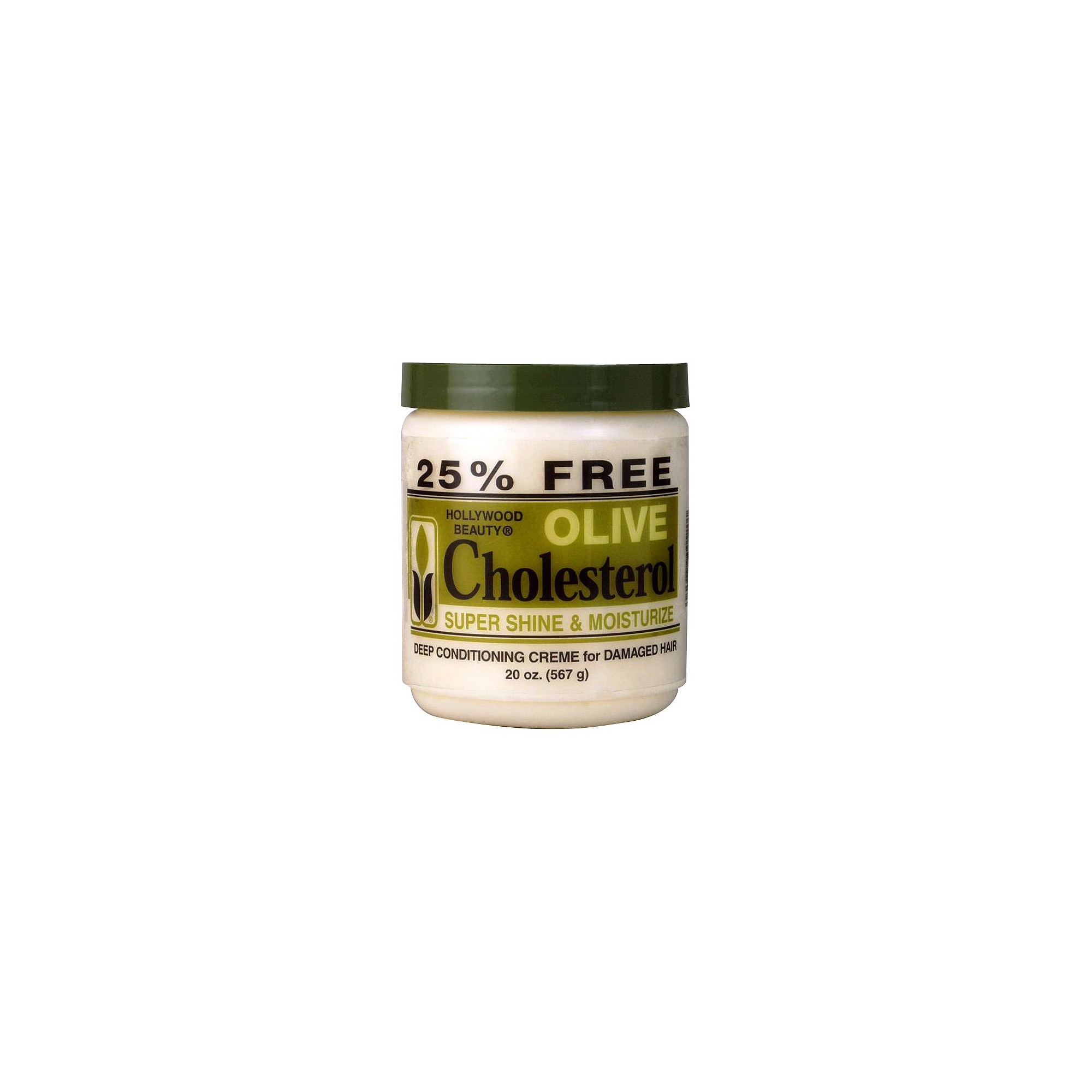 Hollywood Beauty Olive Cholesterol Deep Conditioning Creme for Damaged Hair - 20 oz