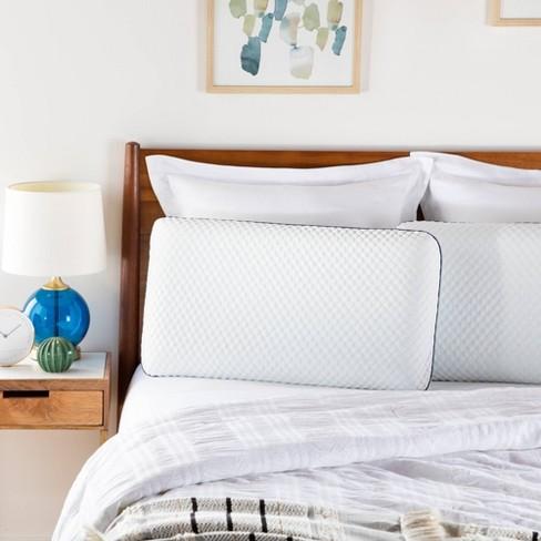 Essentials AlwaysCool Gel Memory Foam Bed Pillow - Linenspa - image 1 of 4