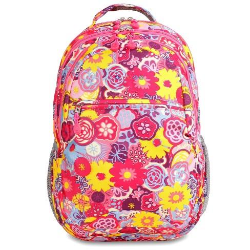 "JWorld 19"" Cornelia Laptop Backpack - Poppy Pansy - image 1 of 5"