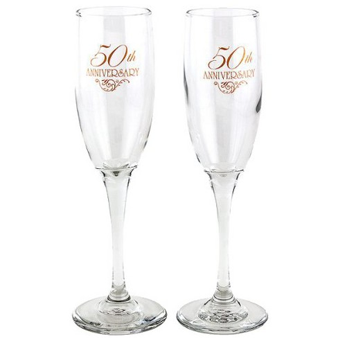 2ct 50th Anniversary Champagne Flutes - image 1 of 1