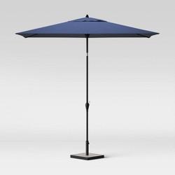 6.5' x 10' Rectangular Patio Umbrella - Black Pole - Threshold™