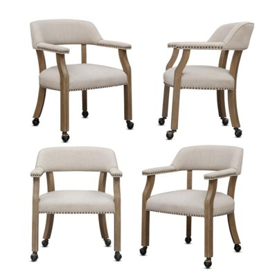 Millstone Game or Dining Chairs - Set of 4 - Comfort Pointe