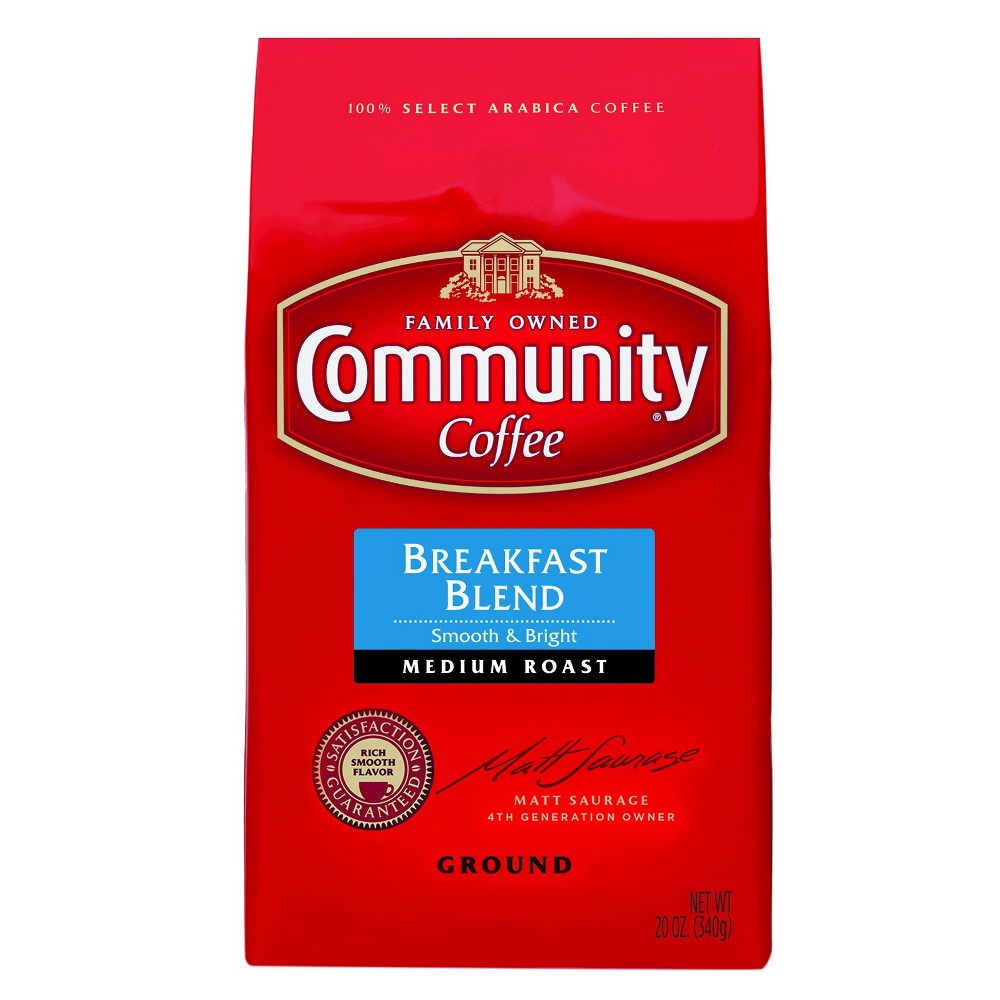 Community Coffee Breakfast Blend Medium Roast Ground Coffee - 20oz