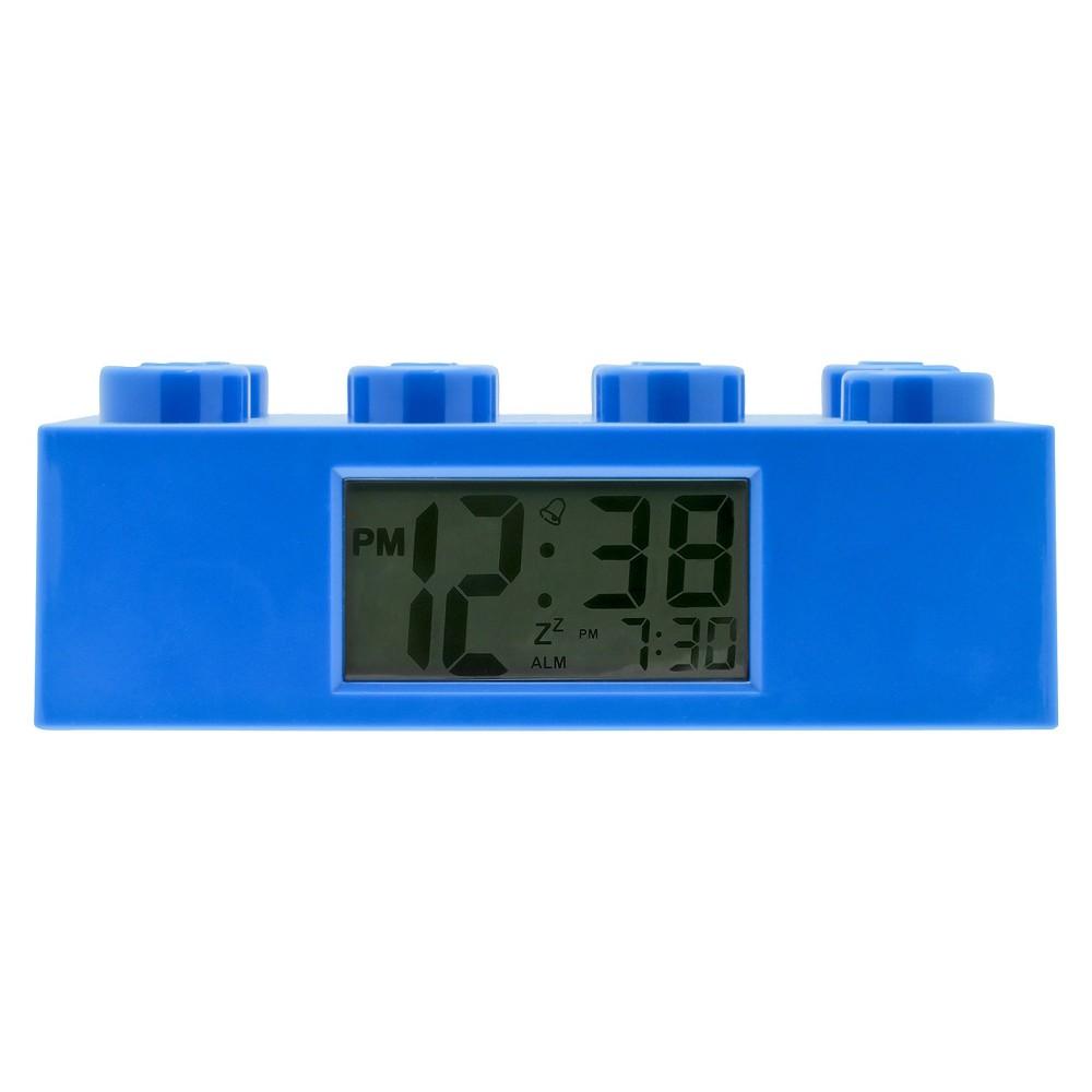 Image of Lego Brick Kids Blue Alarm Clock - Blue
