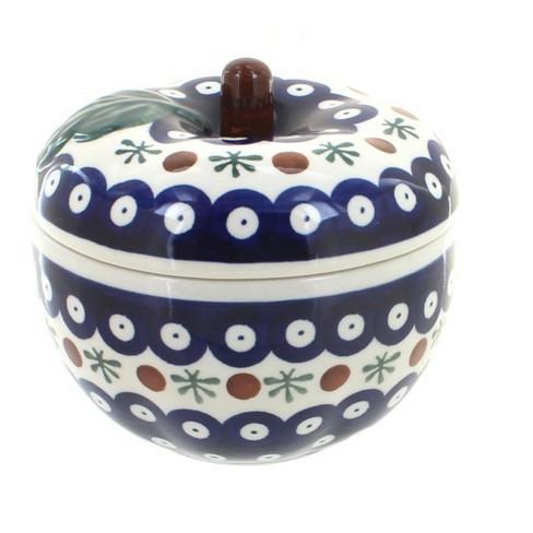 Blue Rose Polish Pottery Nature Apple Baker - image 1 of 1
