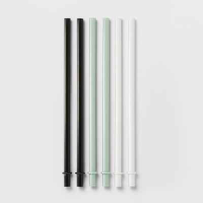 6pk Plastic Kids' Straws - Pillowfort™