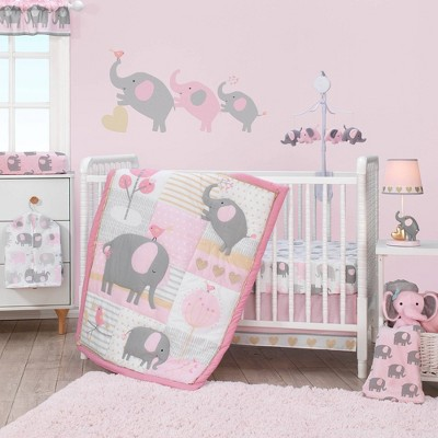 Bedtime Originals Nursery Crib Bedding Set - Eloise Elephant 4pc