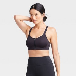 Women's High Support Zip Front Bra - All in Motion™