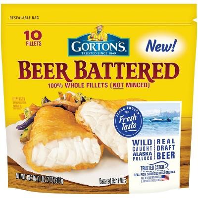 Gorton's Beer Battered Fish Fillets - Frozen - 18.2oz