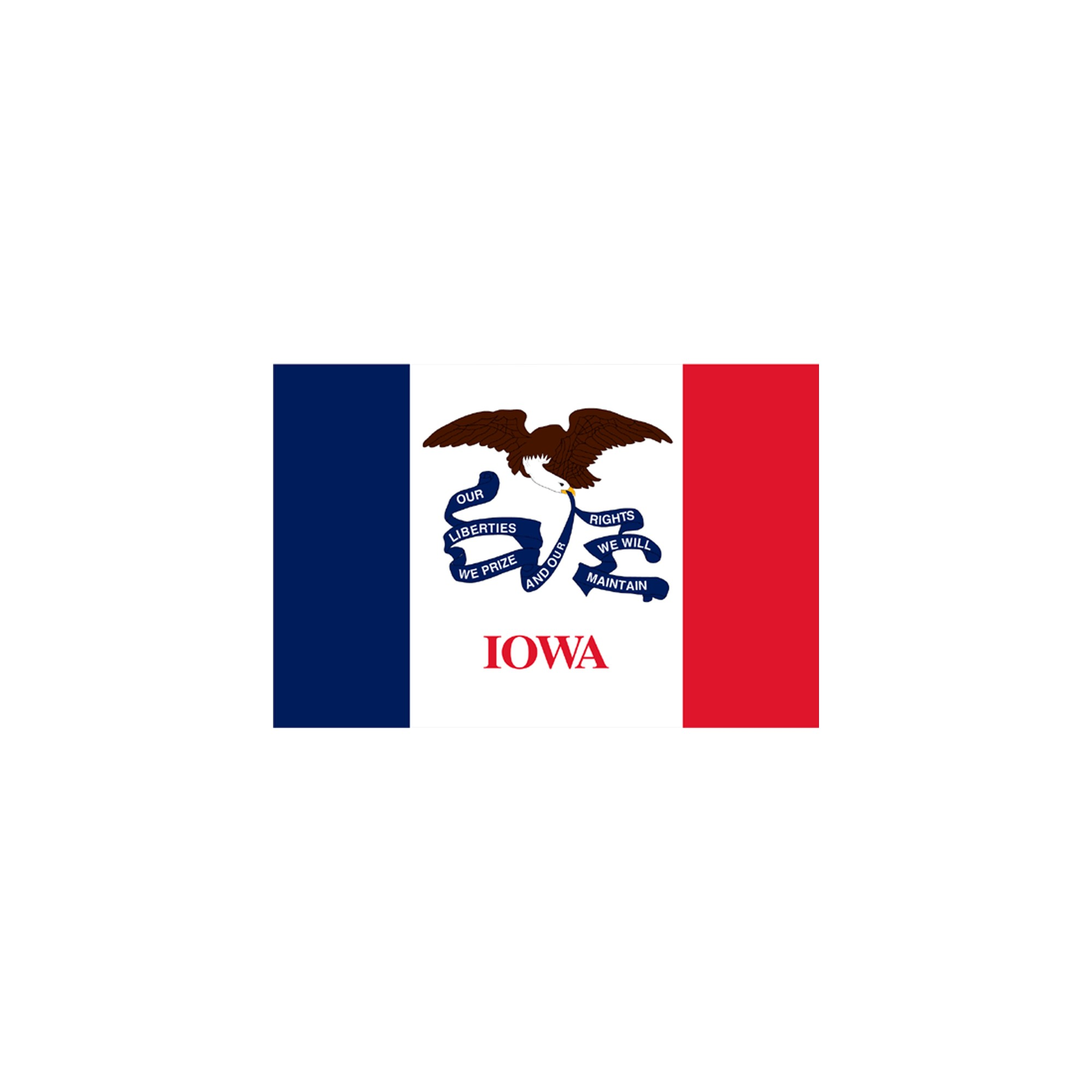 Halloween Iowa State Flag - 4' x 6'