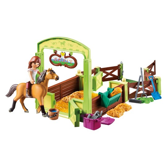Playmobil Lucky and Spirit with Horse Stall - Spirit Riding Free image number null