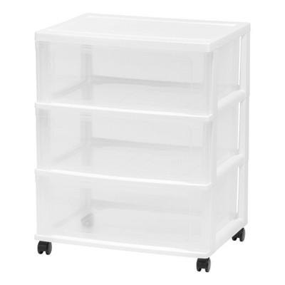IRIS 3 Drawer Storage Cart with Wheels