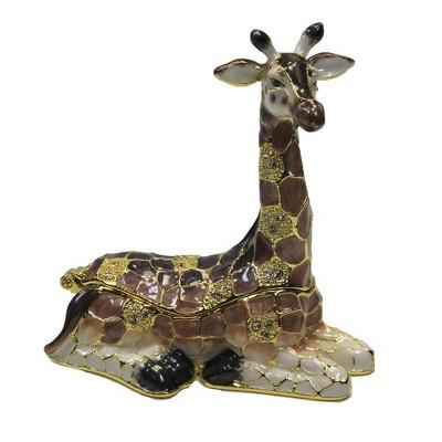"Hinged Trinket Box 2.5"" Giraffe Box Long Neck Magnetic  -  Decorative Figurines"
