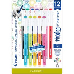 Pilot 12ct FriXion Fineliner Eraseable Marker Pens Fine Point 0.6mm