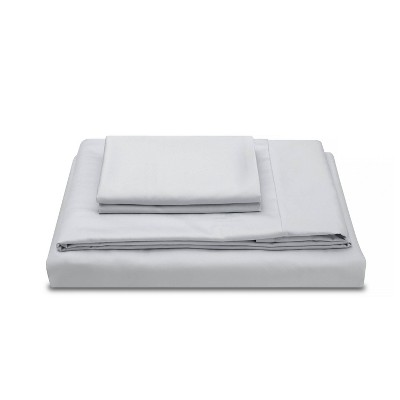 King 300 Thread Count Percale Solid Sheet Set Cloud Gray - MOLECULE