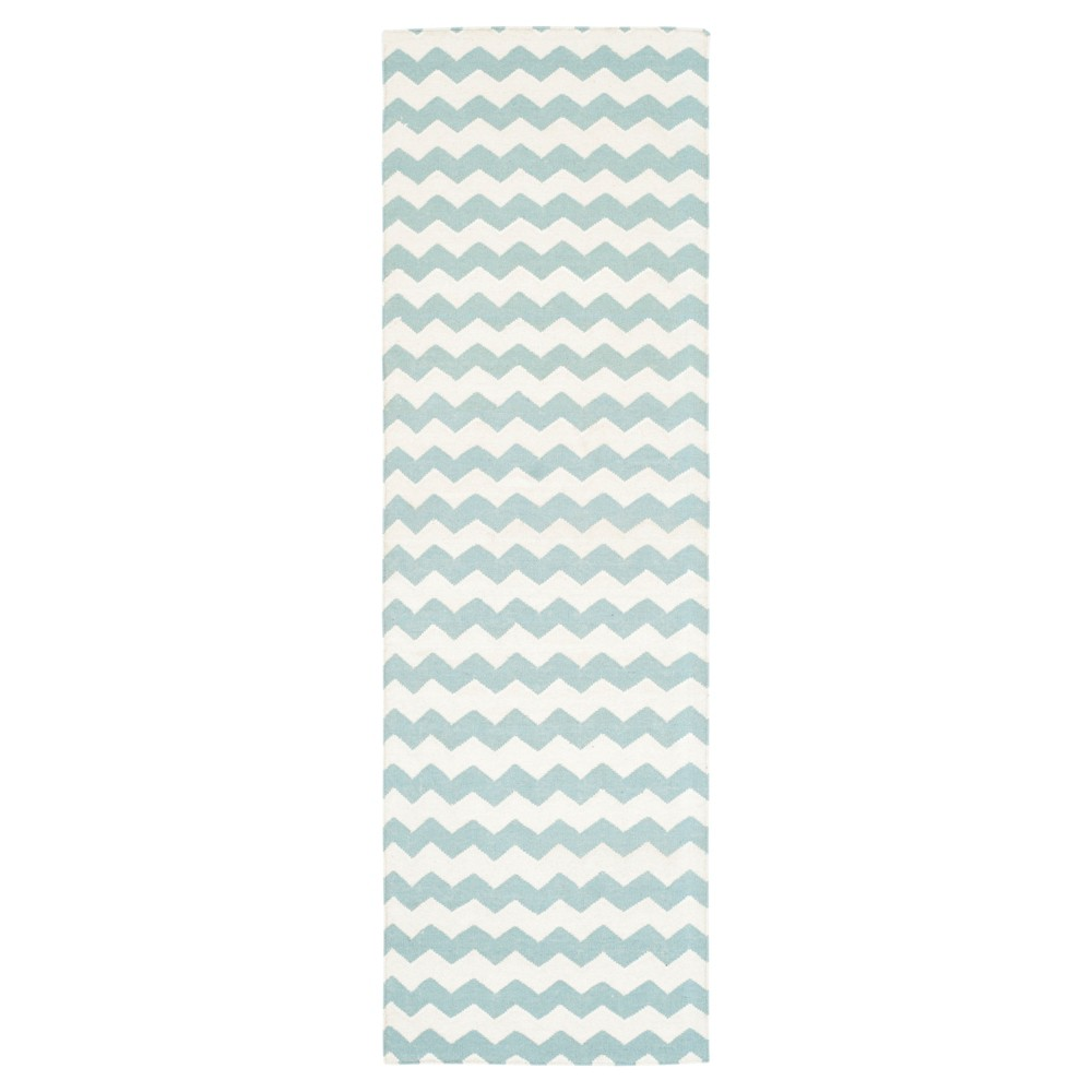 Myrna Dhurrie Accent Rug - Ivory / Blue (2'6 X 8') - Safavieh, Ivory/Blue