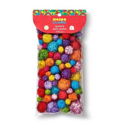 100ct Sparkle Pom-Poms - Mondo Llama™