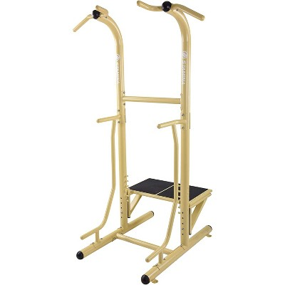 Stamina 65-1485 Weather-Resistant Outdoor Fitness Power Tower Pro Station with Pull-Up Station and Plyo Box, Gold