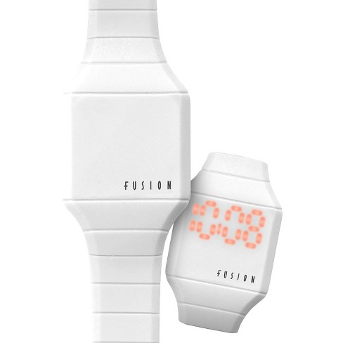 Girls  Fusion Hidden LED Digital Watch - White   Target 943b232c53