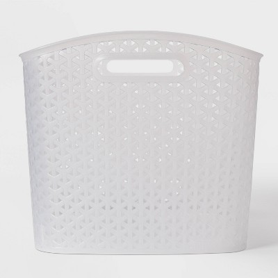 XL Y Weave Decorative Curved Bin Clear - Room Essentials™