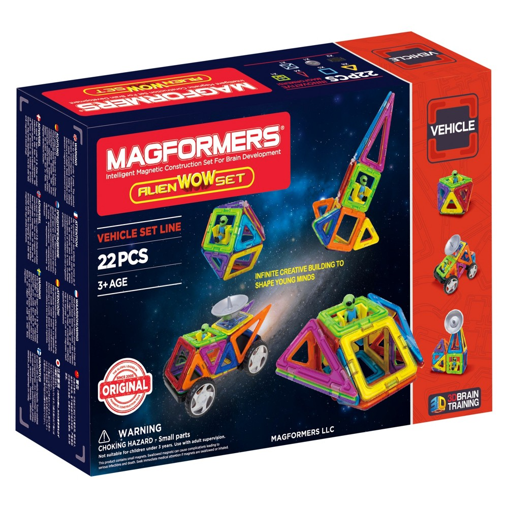 Magformers Space Wow Alien Set - 22pc