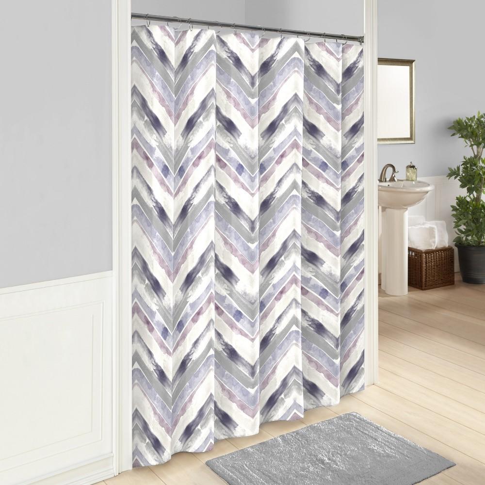 Baxter Printed Shower Curtain Purple - Vue