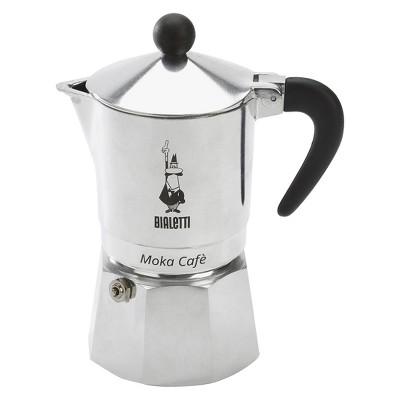 Bialetti 3 Cup Moka Stovetop Espresso Maker - Silver
