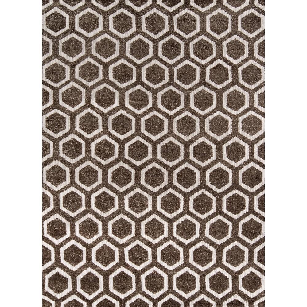 Hexagon Rug - Taupe (Brown) - ( 5' x7') - Momeni