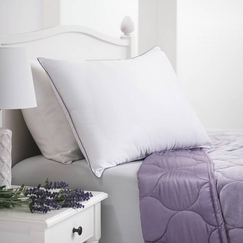 Lavender Infused Microfiber Bed Pillow - Dream Infusion - image 1 of 3