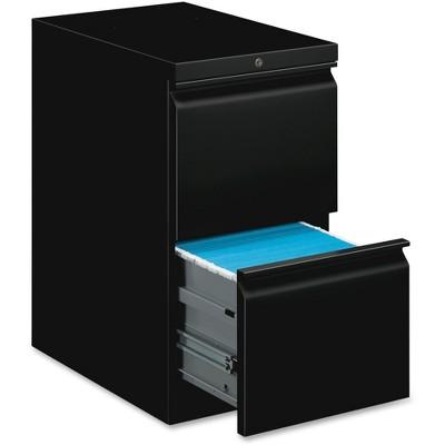 Basyx Mobile Pedestal File File/File 15 x 20 x 28 Black HBMP2FP