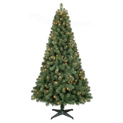 6ft Prelit Artificial Christmas Tree Alberta Spruce Clear Lights - Wondershop™