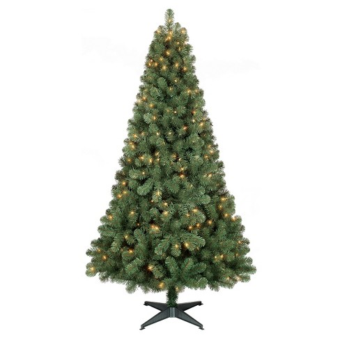 6ft Prelit Artificial Christmas Tree Alberta Spruce Clear Lights ...