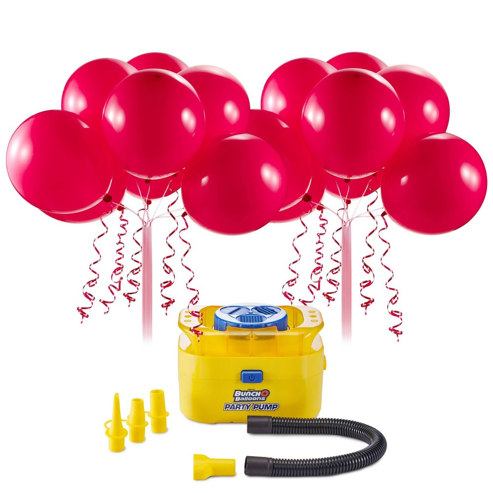 Image of Party Pump Balloon Accessories Red