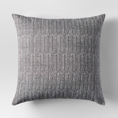 Gray Woven Linework Oversized Throw Pillow - Project 62™