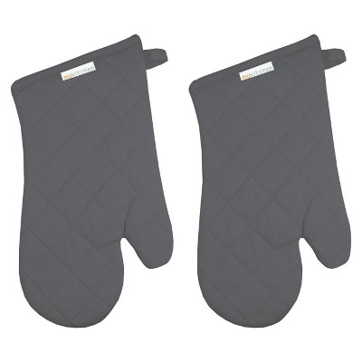 Oven Mitt (Set Of 2)Stainless Gray - Mu Kitchen