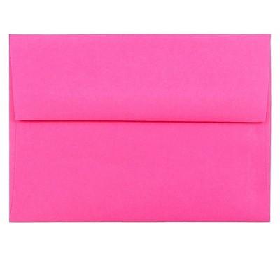 JAM Paper A6 Colored Invitation Envelopes 4.75 x 6.5 Ultra Fuchsia Pink 60574