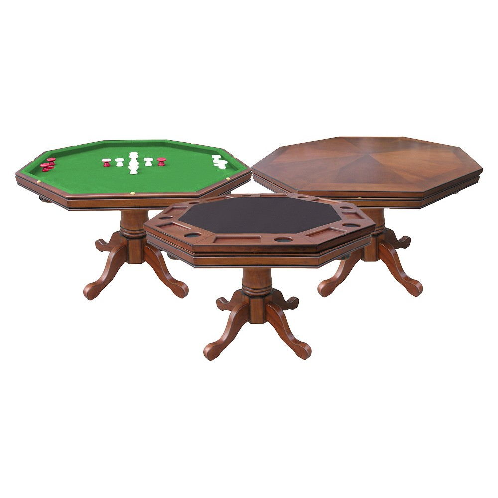 Hathaway Poker Table - Walnut (Brown)