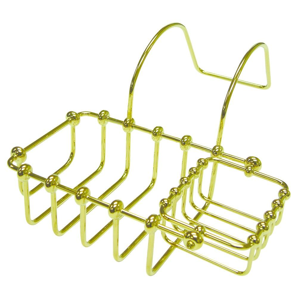 Image of 7 Swivel Soap and Sponge Holder Polished Brass - Kingston Brass