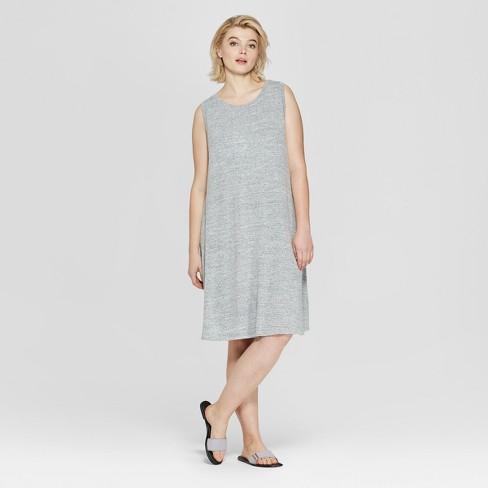 c916fd96987 Women s Plus Size Sleeveless Midi Swing Dress - Ava   Viv™ Gray ...