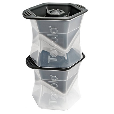Tovolo Colossal Cube Ice Molds (Set of 2) Charcoal