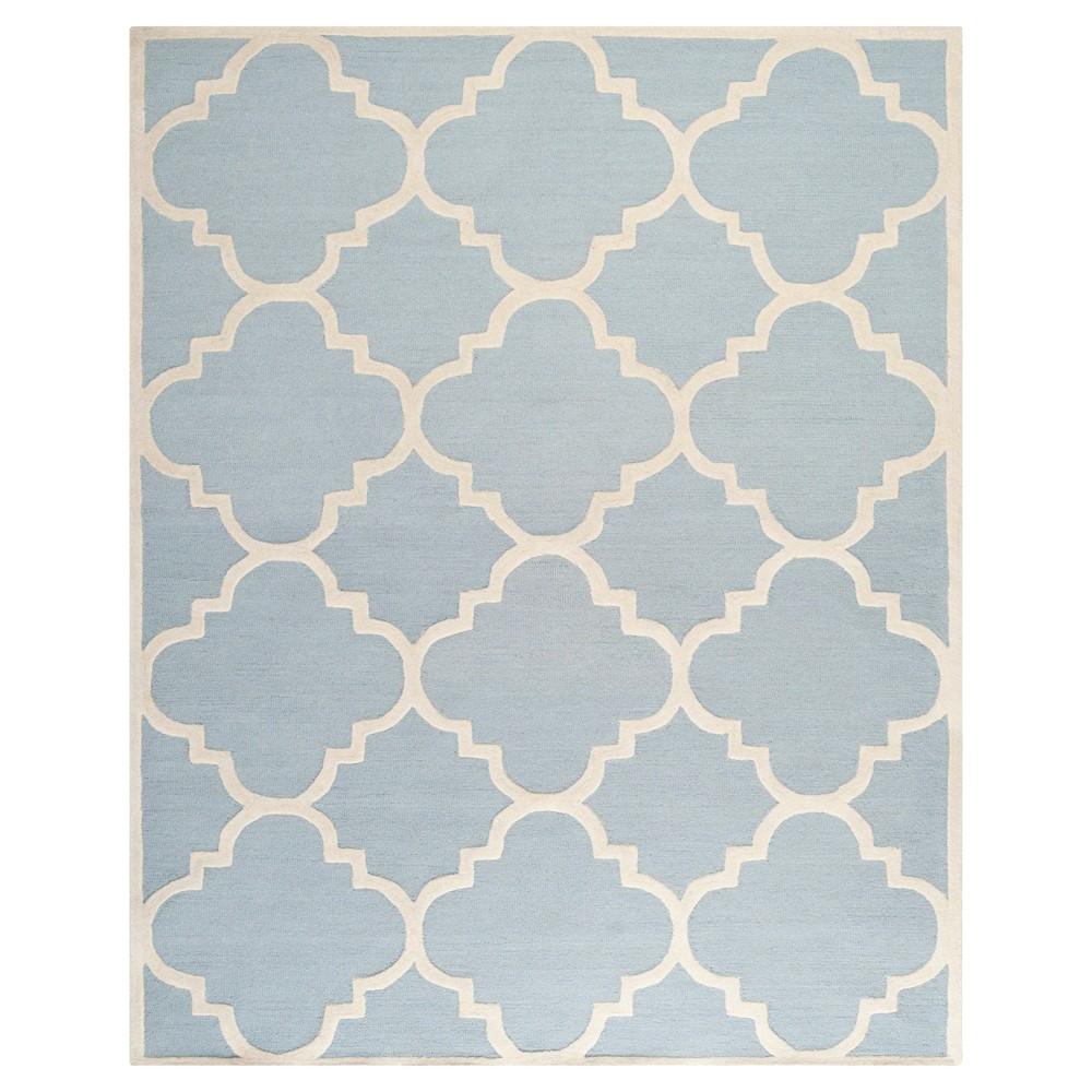 Landon Texture Wool Rug - Light Blue / Ivory (8' X 10') - Safavieh, Light Blue/Ivory