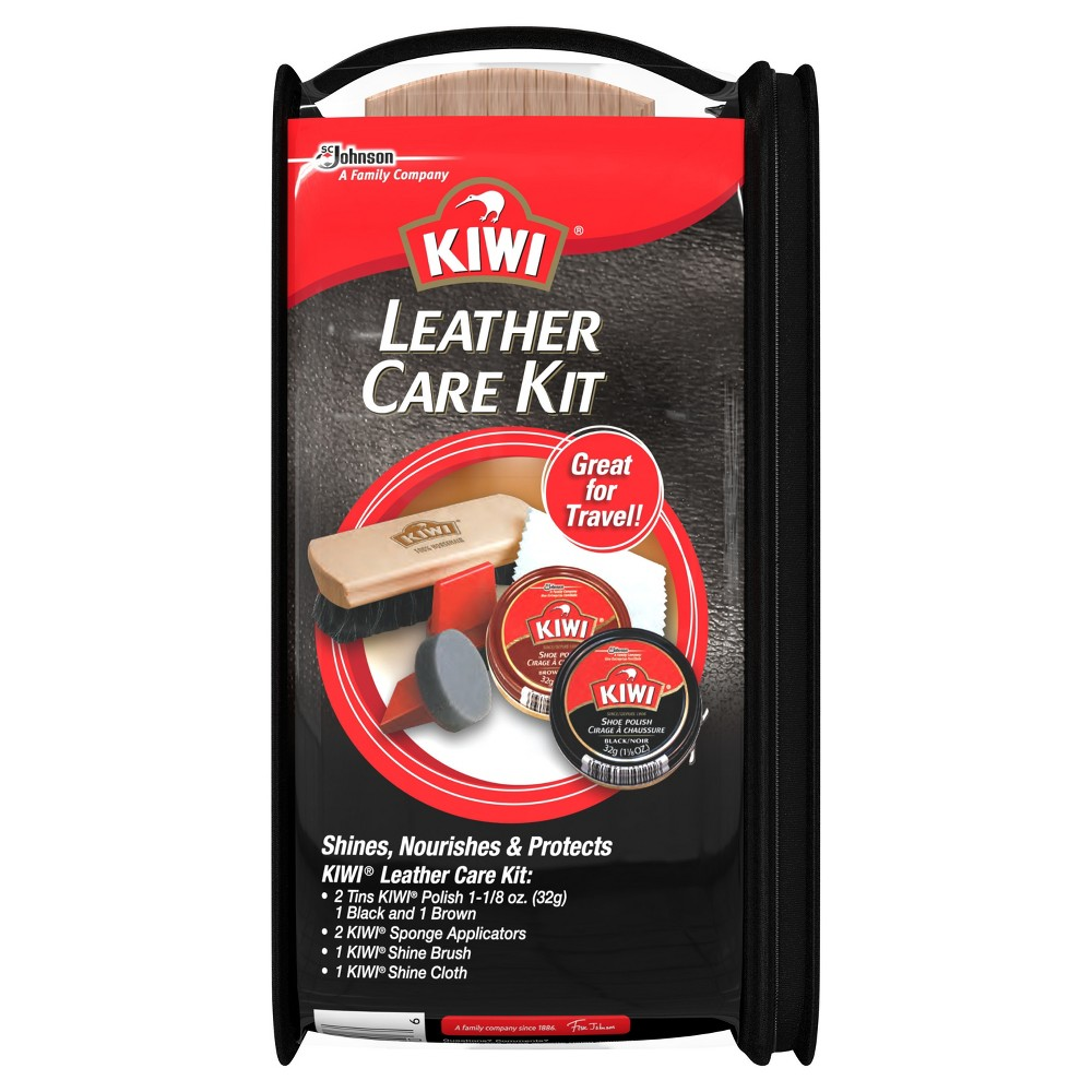 Kiwi Leather Shoe Care Kit 6ct, Multi-Colored