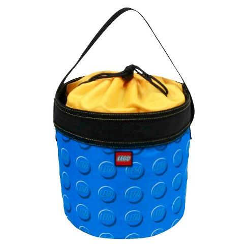 """LEGO 9"""" Storage Drawstring Bag Cinch Bucket - Blue - image 1 of 4"""