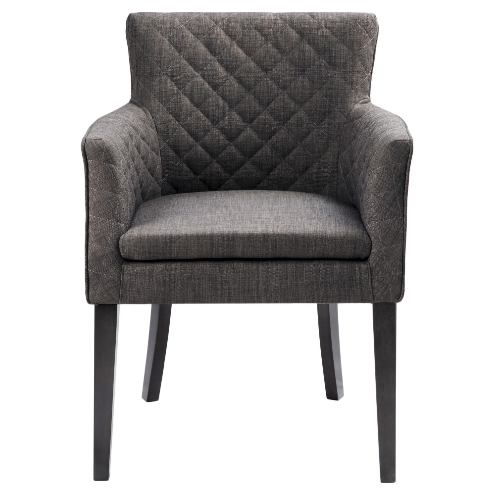 Morgan Quilted Back Dining Chair Wood/Charcoal was $552.99 now $387.09 (30.0% off)