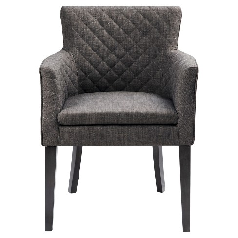 Morgan Quilted Back Dining Chair Wood/Charcoal - image 1 of 5