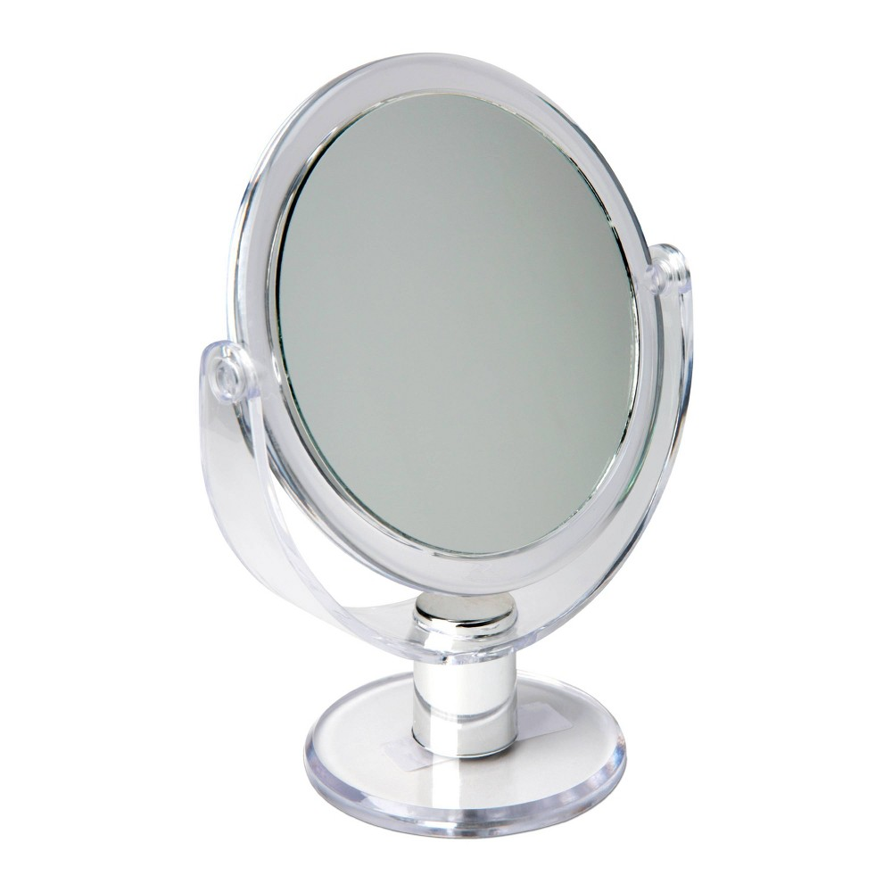 """Image of """"5"""""""" Vanity Rubberized Mirror 1X-10X Magnification Clear - Home Details"""""""