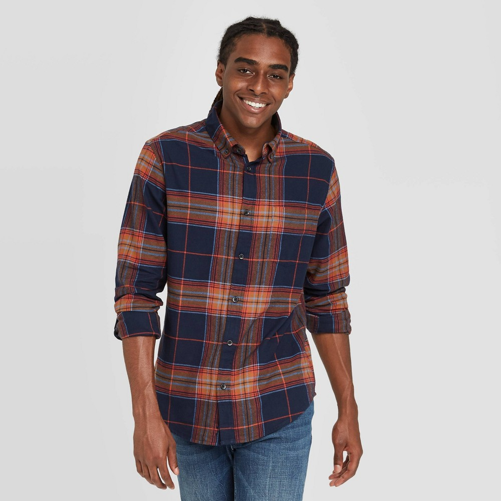 Promos en's Standard Fit 1-Pocket Flannel Long Sleeve Button-Down Shirt - Goodfellow & Co™