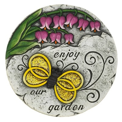 """Cement """"Enjoy Our Garden"""" Stepping Stone - Zingz & Thingz"""