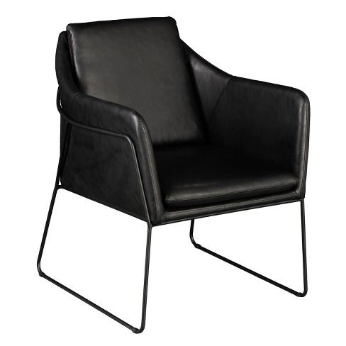 Astonishing Keelin Faux Leather Accent Chair Aiden Lane Creativecarmelina Interior Chair Design Creativecarmelinacom