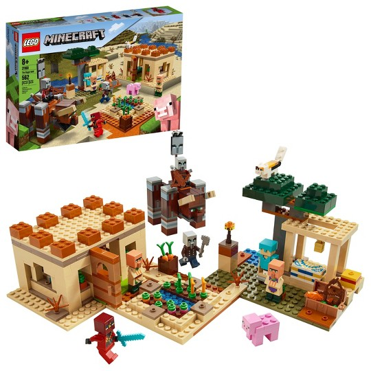 LEGO Minecraft The Pillager Raid 21160 Building Toy Action Playset image number null